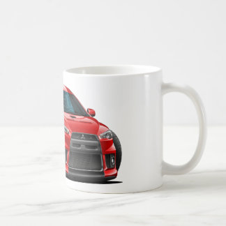 Mitsubishi Evo Red Car Coffee Mug