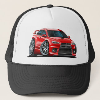 Mitsubishi Evo Red Car Trucker Hat