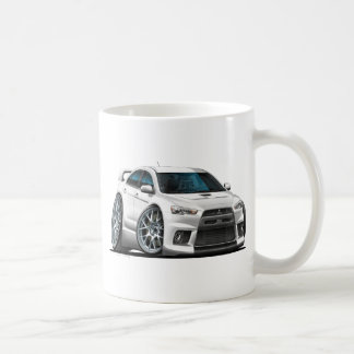 Mitsubishi Evo White Car Coffee Mug