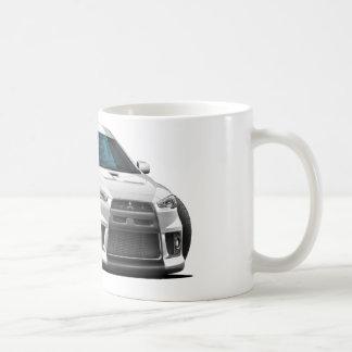 Mitsubishi Evo White Car Coffee Mugs