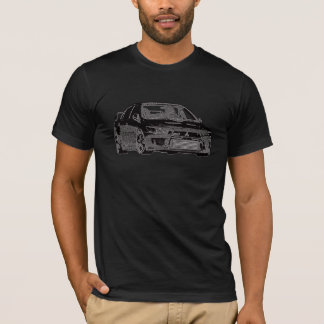 Mitsubishi Evo - X - Black Design T-Shirt
