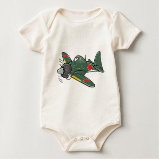 mitsubishi zero baby bodysuit