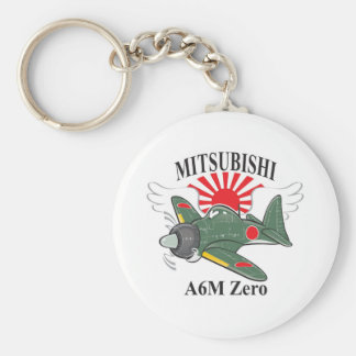 mitsubishi zero basic round button key ring