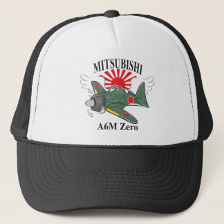 mitsubishi zero trucker hat