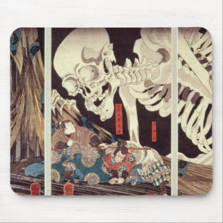 Mitsukini Defying the Skeleton Spectre, c.1845 Mouse Pad