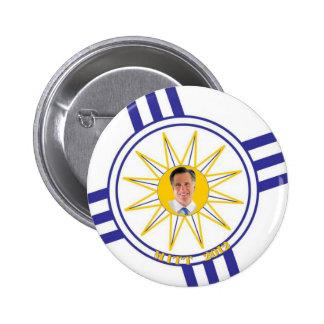 Mitt 2012 Mormon Flag 6 Cm Round Badge