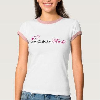 Mitt Chicks Rock in Pink!! T-Shirt
