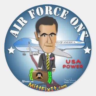 Mitt Fix It - Air Force One Round Sticker