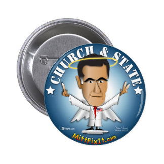 Mitt Fix It - Church and State 6 Cm Round Badge