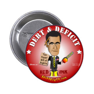 Mitt Fix It - Debt & Deficit 6 Cm Round Badge
