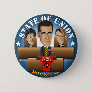 Mitt Fix It - State of Union 6 Cm Round Badge