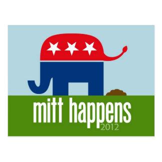 Mitt Happens - Funny Romney Election 2012 Postcard