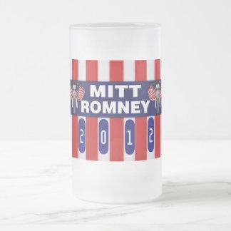 Mitt Romeny GOP Mascot Frosted Glass Mug