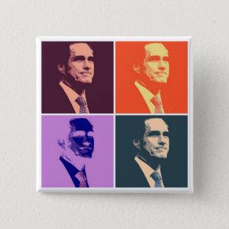Mitt Romney 15 Cm Square Badge