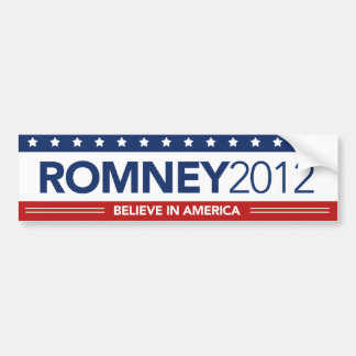 Mitt Romney 2012 Believe In America Bumper Sticker
