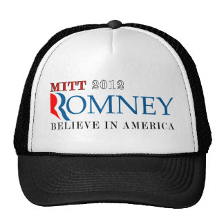 Mitt Romney 2012 Believe in America.png Trucker Hat
