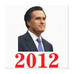 Mitt Romney 2012 Canvas Print