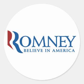 Mitt Romney 2012 Classic Round Sticker