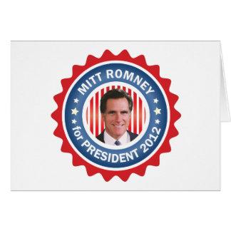 Mitt Romney 2012 for US President Cards