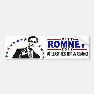 Mitt Romney 2012 Not a Commie Bumper Sticker