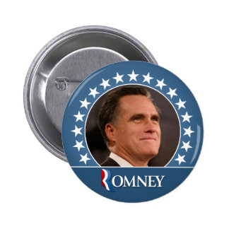 Mitt Romney 2012 - photo pinback with stars 6 Cm Round Badge