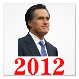 Mitt Romney 2012 Photo Print