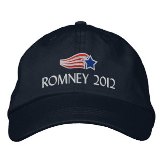 Mitt Romney 2012 Star Stripes Embroidered Hat
