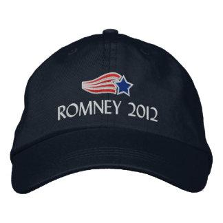 Mitt Romney 2012 Star Stripes Embroidered Hat