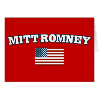 Mitt Romney America Greeting Card