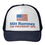 Mitt Romney American Flag Mesh Hat