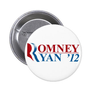 Mitt Romney and Paul Ryan 2012 Pinback Buttons