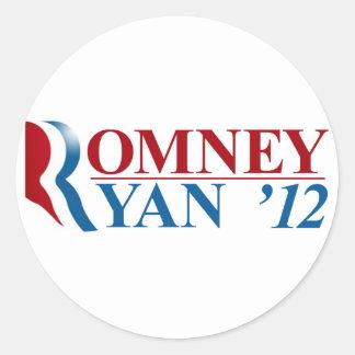 Mitt Romney and Paul Ryan 2012 Round Sticker