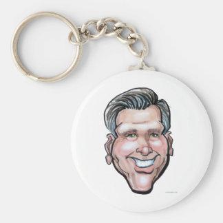Mitt Romney Basic Round Button Key Ring