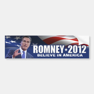 Mitt Romney Believe In America Bumper Sticker