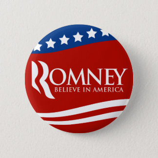 Mitt Romney Believe In America Flag 6 Cm Round Badge