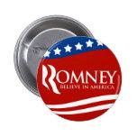 Mitt Romney Believe In America Flag 6 Cm Round Badge