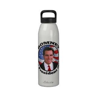 Mitt Romney Circle Frame Photo Drinking Bottles