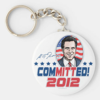 Mitt Romney ComMITTed 2012 Gear Key Ring