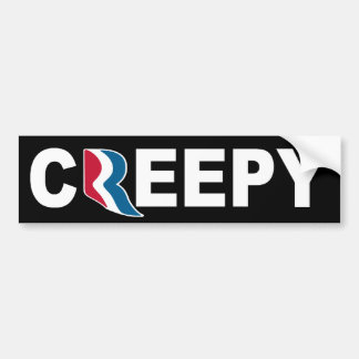 Mitt Romney CREEPY Bumper Sticker