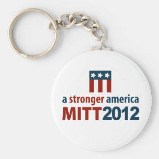 Mitt Romney for a Stronger America Basic Round Button Key Ring