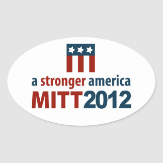 Mitt Romney for a Stronger America Oval Sticker