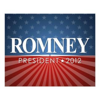 Mitt Romney for President 2012 11.5 Cm X 14 Cm Flyer