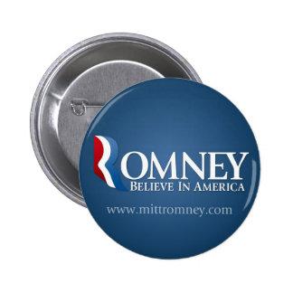 Mitt Romney for President 2012 6 Cm Round Badge