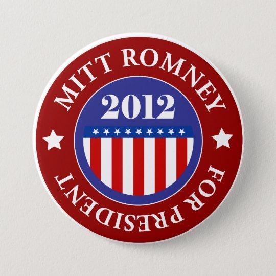 Mitt Romney for President 2012 7.5 Cm Round Badge