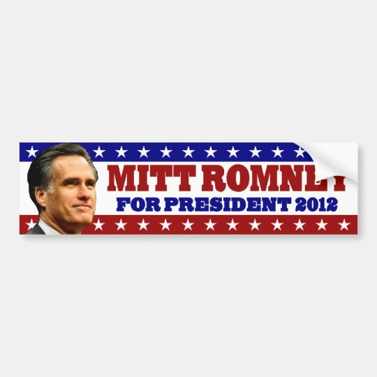 Mitt Romney for President 2012 Bumper Sticker