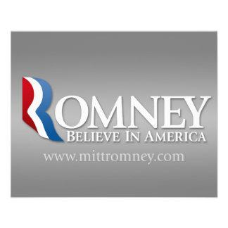 Mitt Romney for President 2012 Flyer