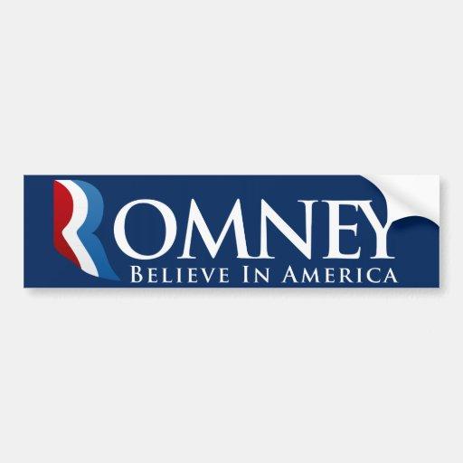 Mitt Romney for President Bumpersticker Bumper Sticker