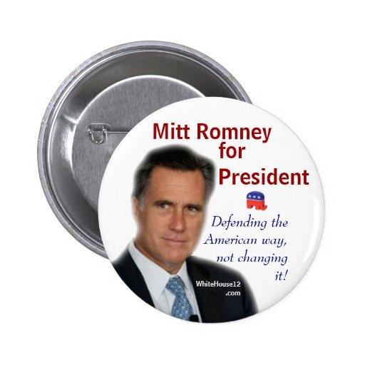 Mitt Romney for President Pinback Button