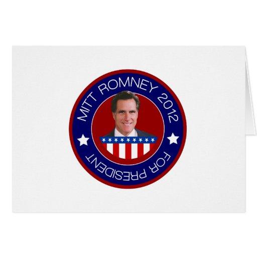 Mitt Romney for US President 2012 Cards