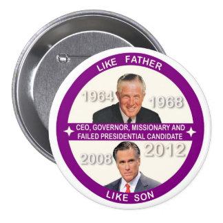 Mitt Romney & George Romney 7.5 Cm Round Badge